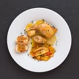 Kaninchen à la Bouillabaisse mit Kartoffeln