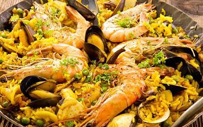 Safran in der Paella