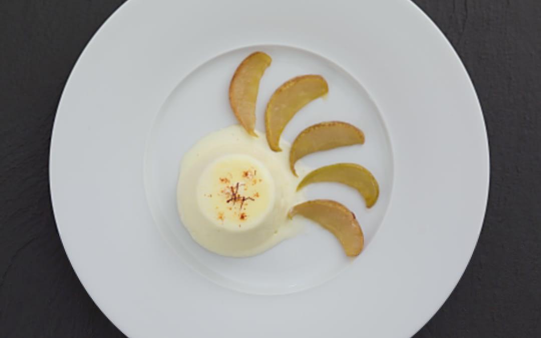 Williams-Parfait mit Honig-Safran-Birnen