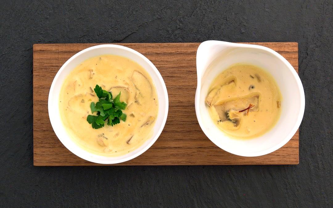 Champignon-Safran-Sauce