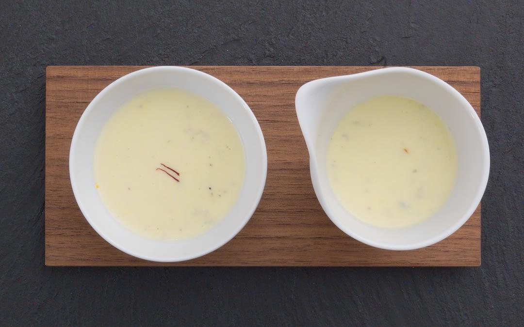 Gorgonzola-Sauce mit Safran und Gin