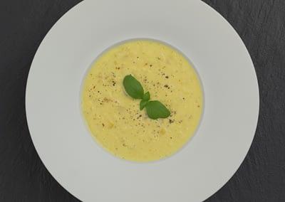 Maissuppe mit Safran